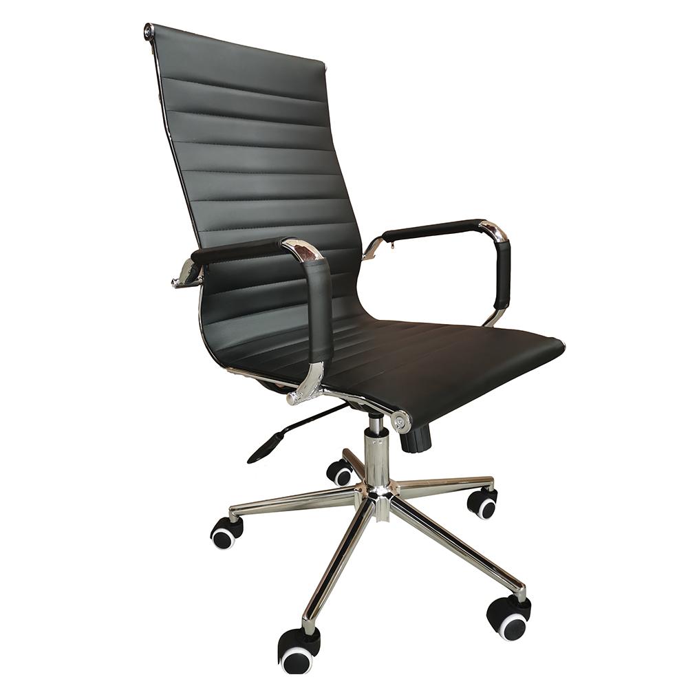 Cadeira Presidente Eames Office Base Cromada – Lisa Preta
