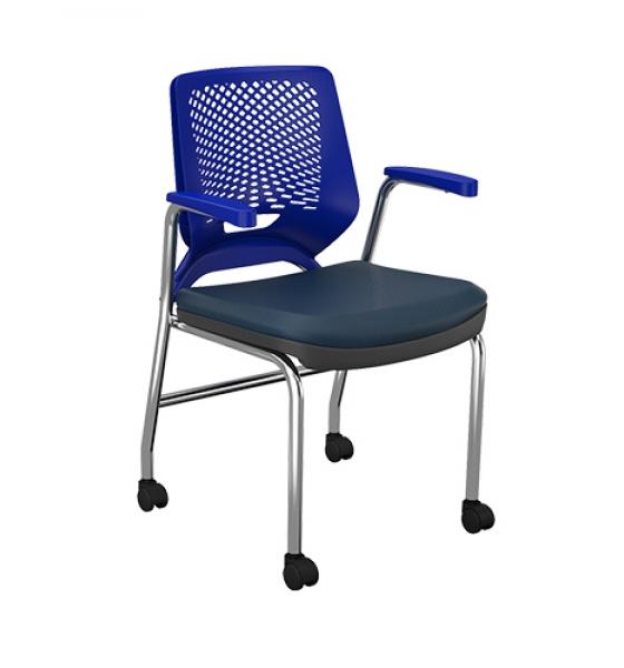 Cadeira Beezi Fixa 4 Pés e Rodízio