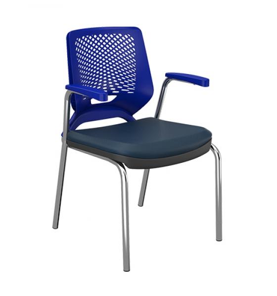 Cadeira Beezi Fixa 4 Pés com Braço