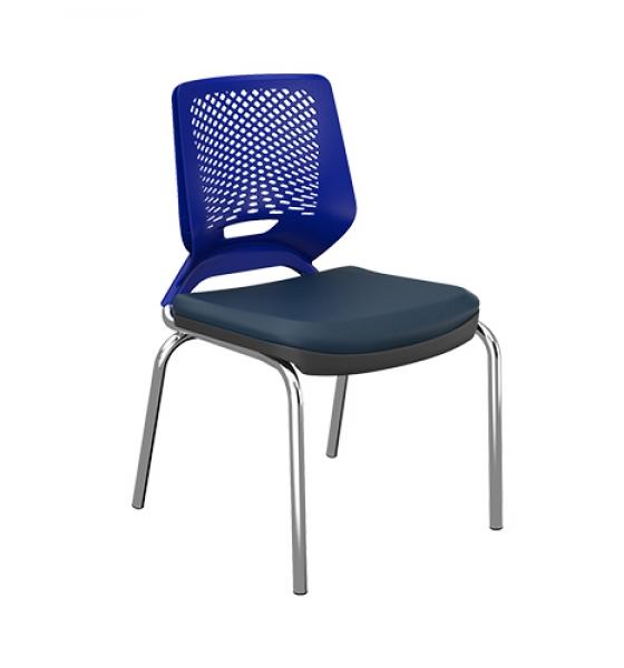 Cadeira Beezi Fixa 4 Pés sem Braço