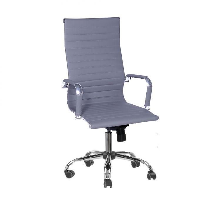 Cadeira Presidente Eames Office Cromada – Cinza