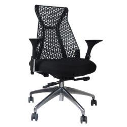 Cadeira de Escritório Inspired Miller Diretor Base Alumínio Preta Perfil